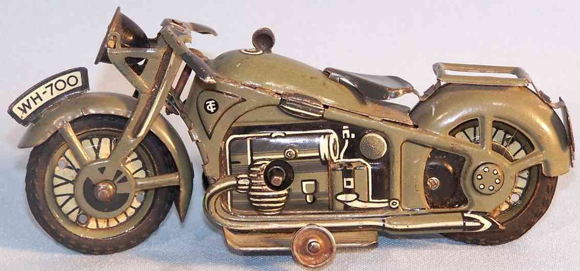 tippco WH-700 toy military motorcycle clockwork