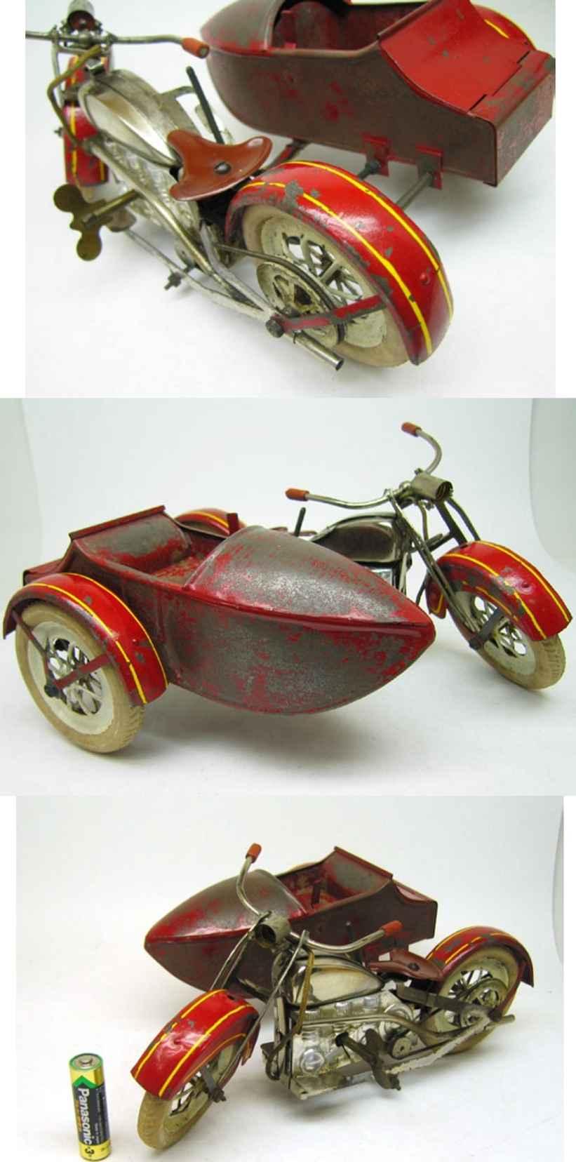 Motorrad mit Seitenwagen Made in Japan