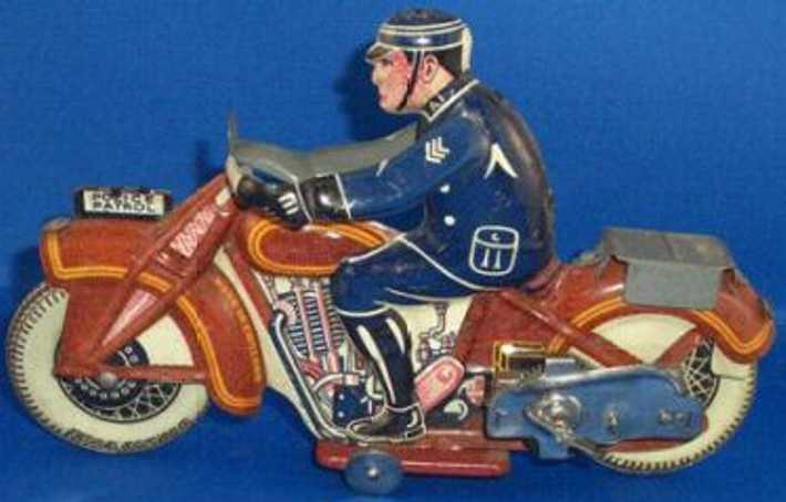 wells brimtoy tin toy motorcycle motorcycle