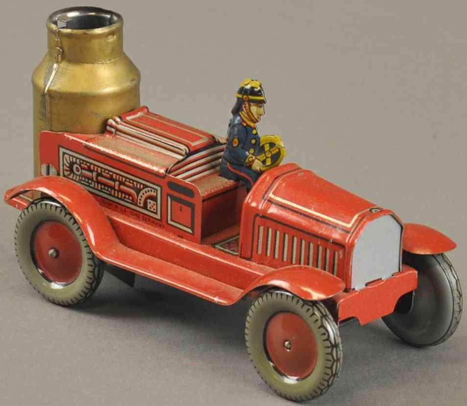 arnold penny toy feuerwehrkesselwagen fahrer uhrwerk