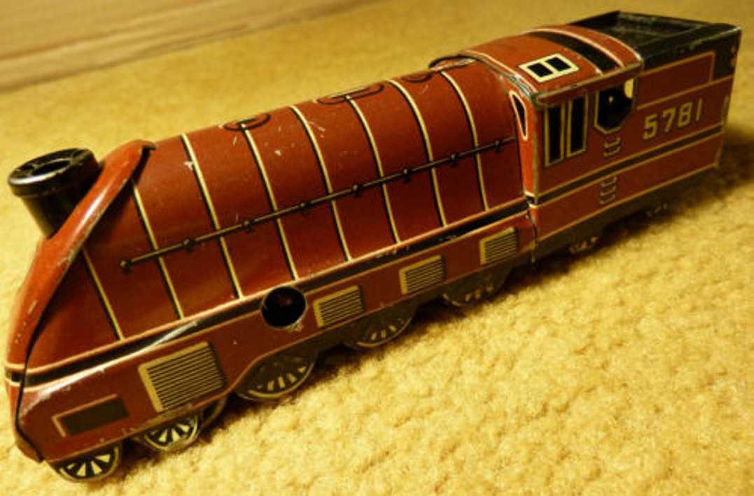 Arnold Penny Toy Stromlinienförmige Dampflokomotive