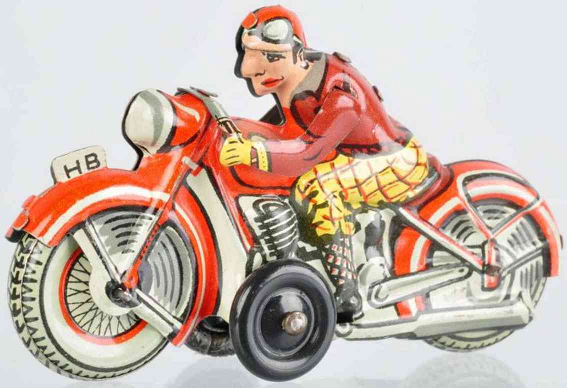 biller penny toy motorradfahrer schild hb schwarze plastikraeder