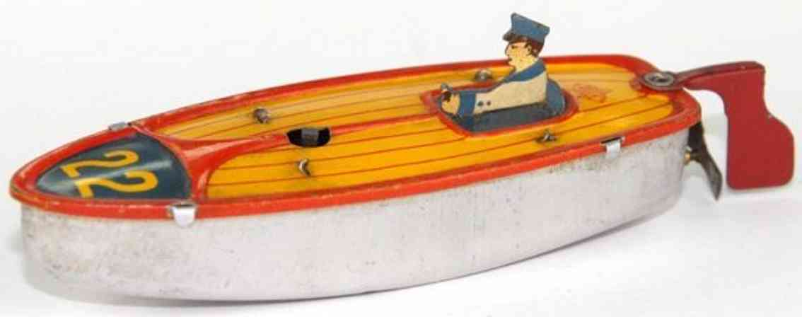 bonnet penny toy boat clockwork figure oar vebe