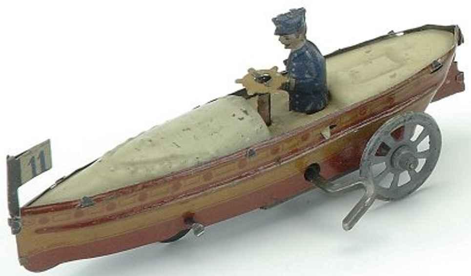 distler johann 220 penny toy rennboot blech mit uhrwerk