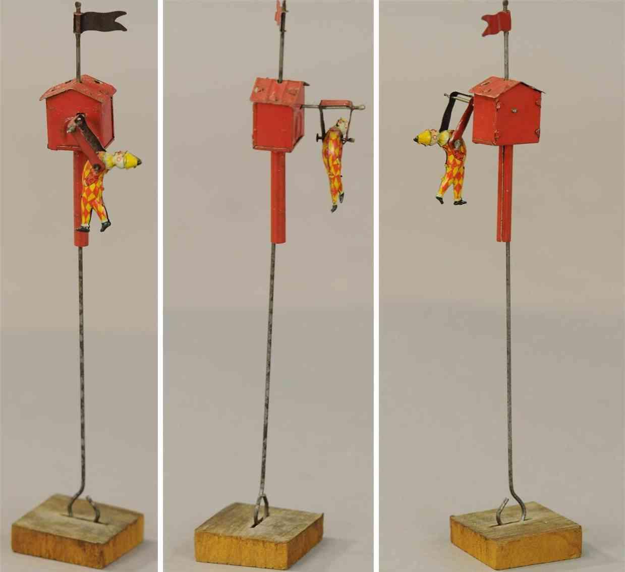 distler johann 302 penny toy turnender clown schlaegt purzelbaum