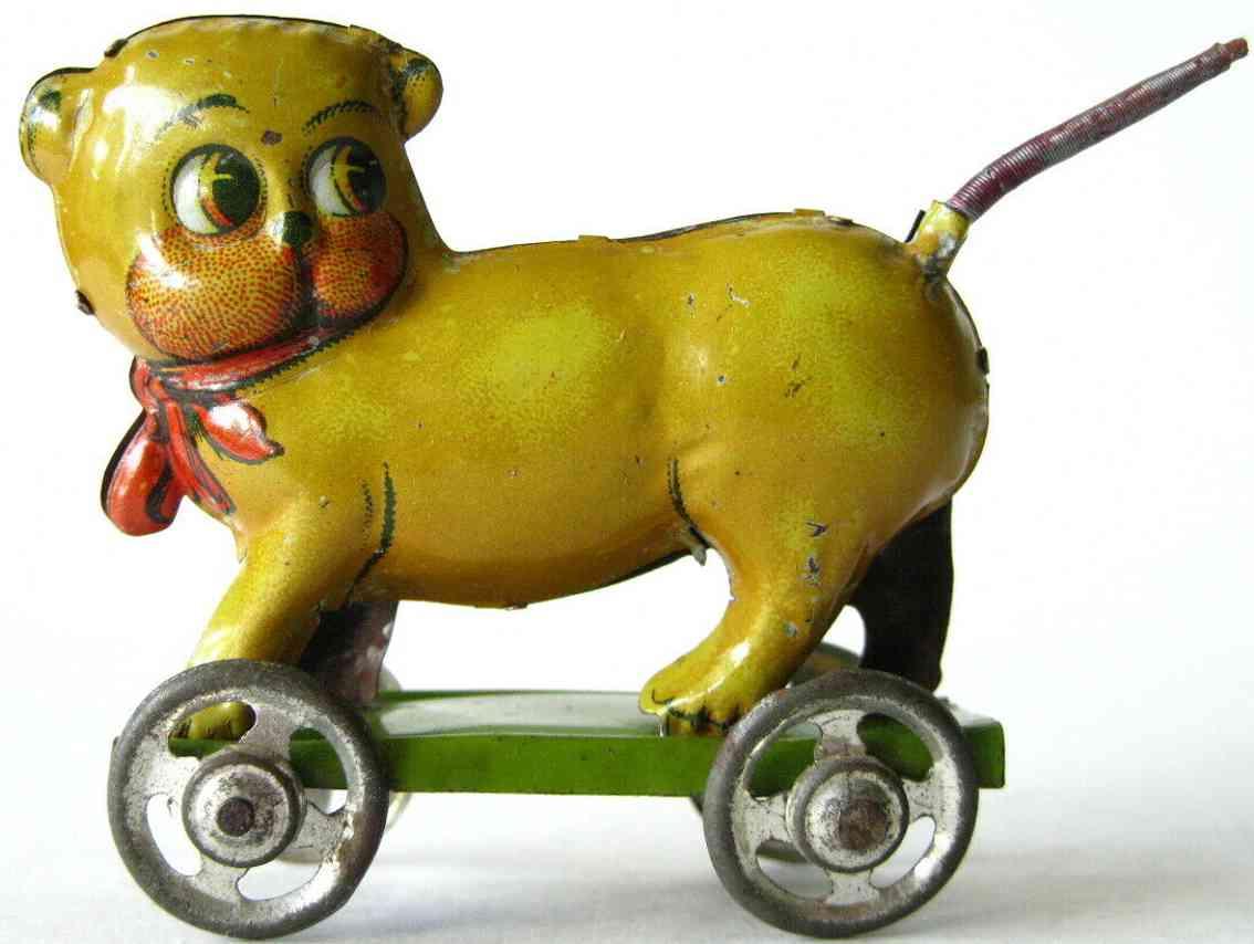 distler 480 blech penny toy hund mops plattform mit federschwanz