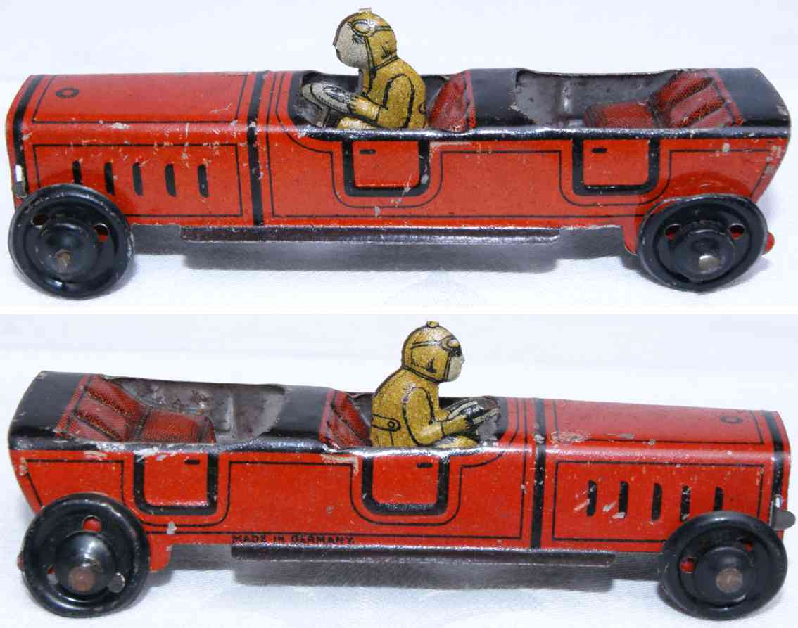distler johann 529 penny toy offener tourenwagen rot schwarz fahrer