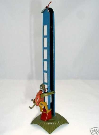distler 232 penny toy monkey climbing ladder clockwork