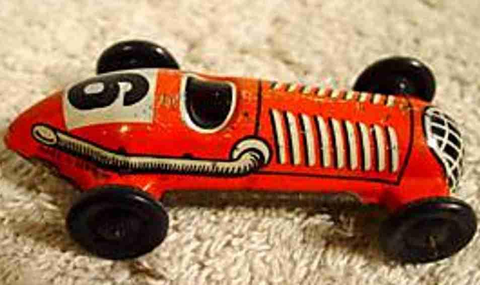distler johann 6 penny toy rennwagen rennauto rot