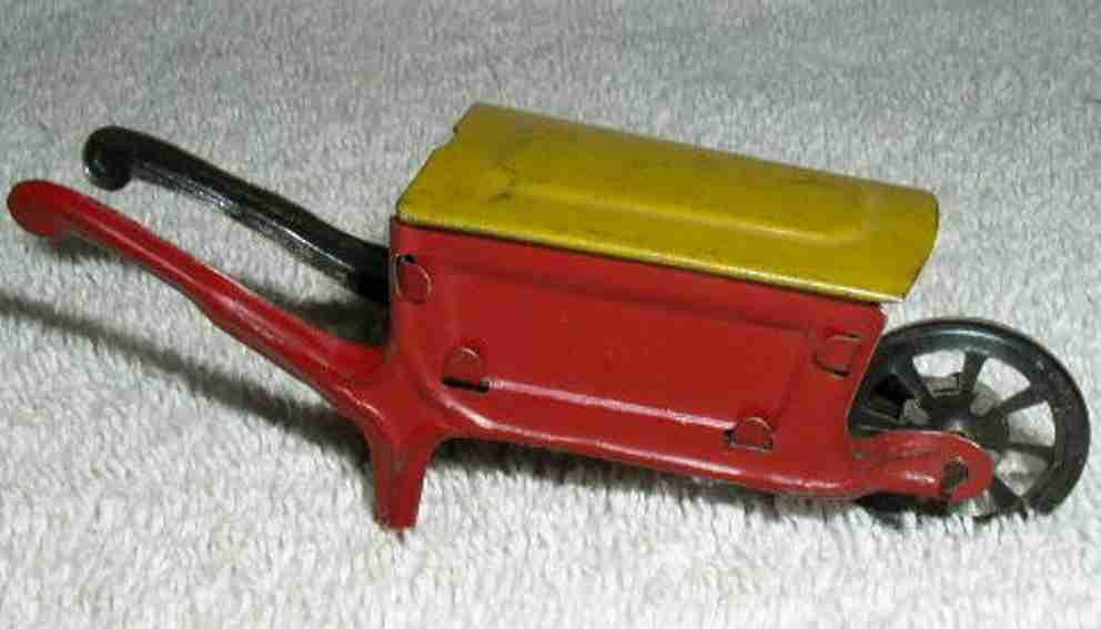 distler 2009/47 penny toy schubkarre in rot und gelb