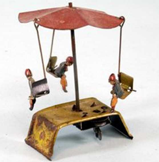 distler penny toy karussell uhrwekr roter baldachin