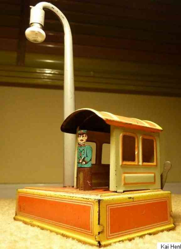 distler johann penny toy railroad house figure lamp battery-operated