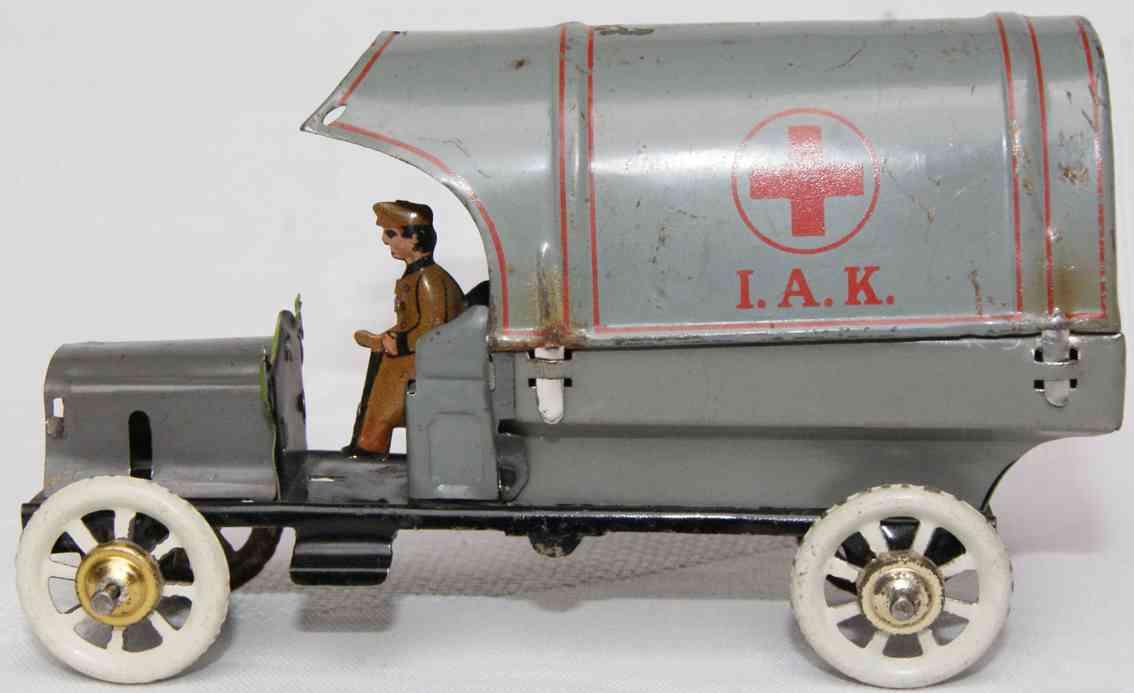 distler johann penny toy rotkreuz armee lastwagen mit plane als verdeck