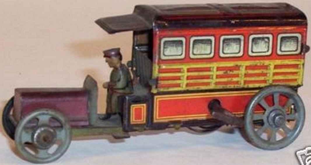 distler johann penny toy lastwagen uhrwerk fahrer in uniform