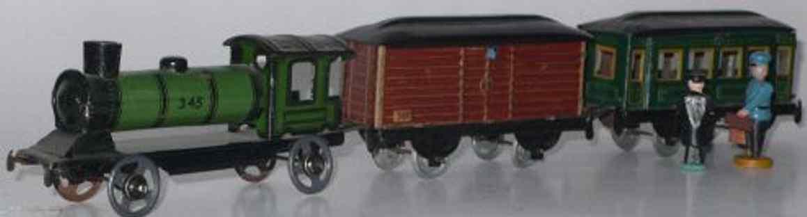 distler johann penny toy zug lokomotive 345 personenwagen 367