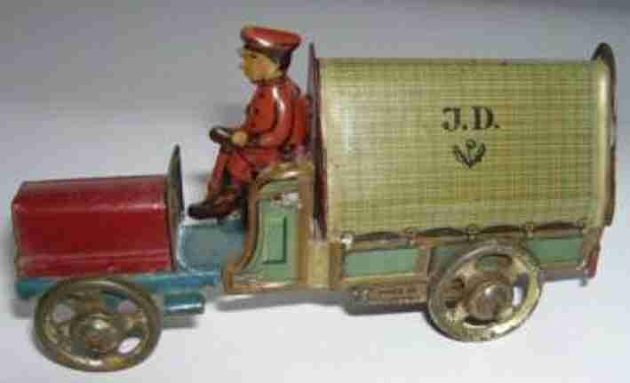 distler 235 penny toy motorwagen mit fahrer jd