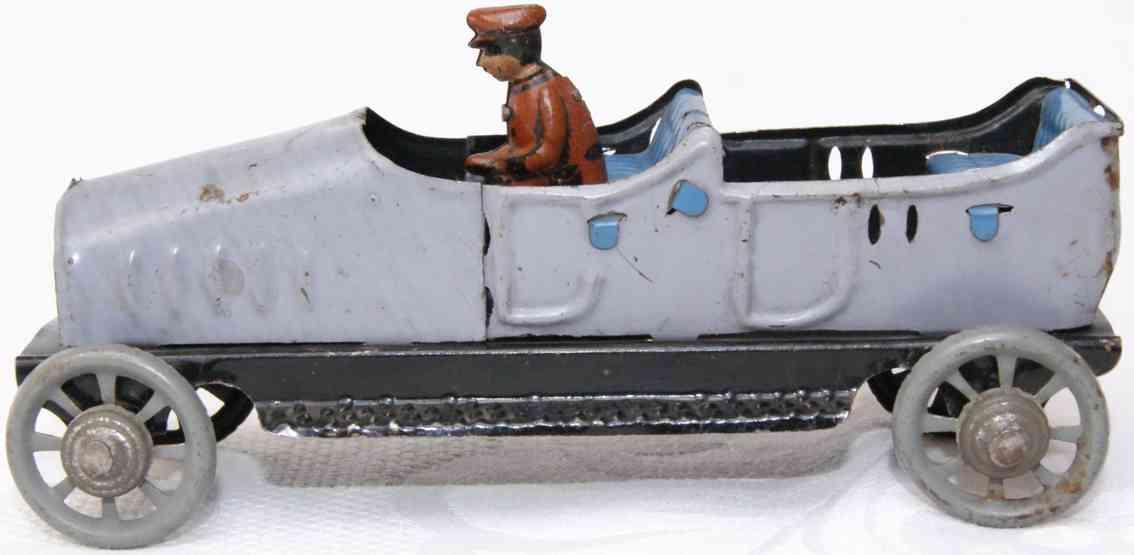 distler 257 penny toy cabrio limousine englischer tourenwagen graublau
