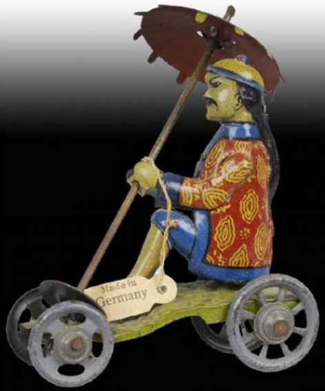 distler 513 penny toy chinese mandarin drehender schirm