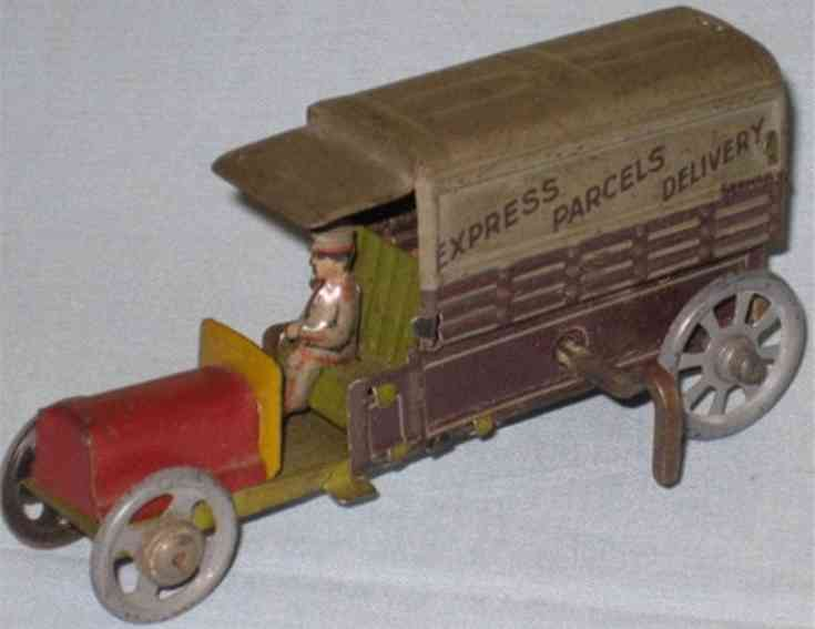 distler 292 penny toy lieferwagen express parcels delivery
