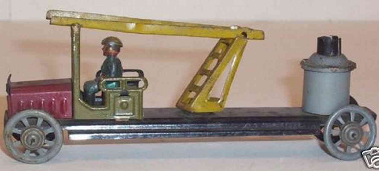 distler 291 penny toy fire engine uniformed driver