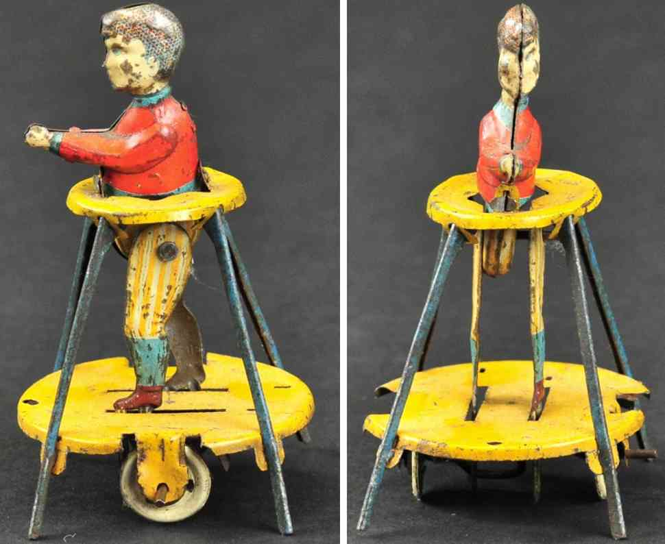 distler blech penny toy kind im lauflerngeraet gehhilfe