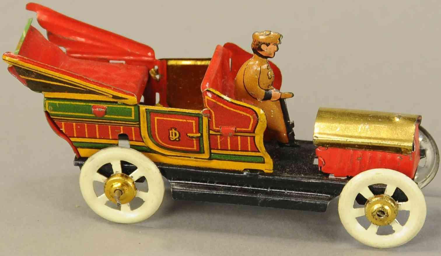 distler penny toy offene limousine taxi schwungradantrieb cancy container
