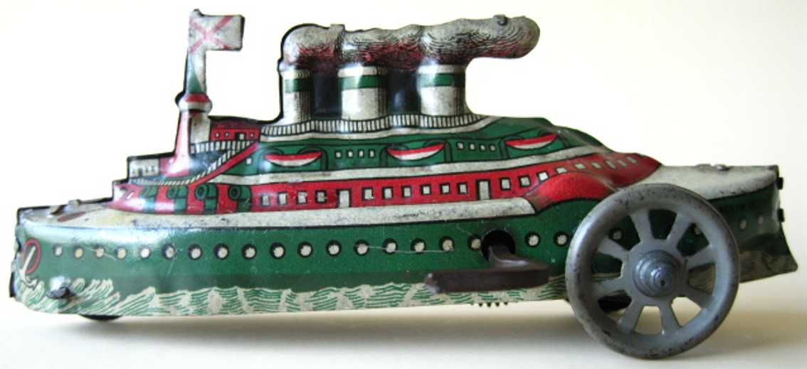 distler johann penny toy dampfschiff uhrwerk