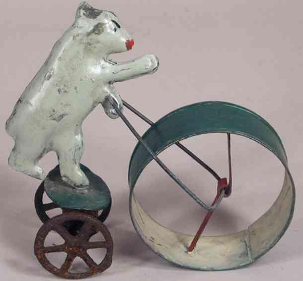 fallows penny toy polarbär mit sich drehendem rad