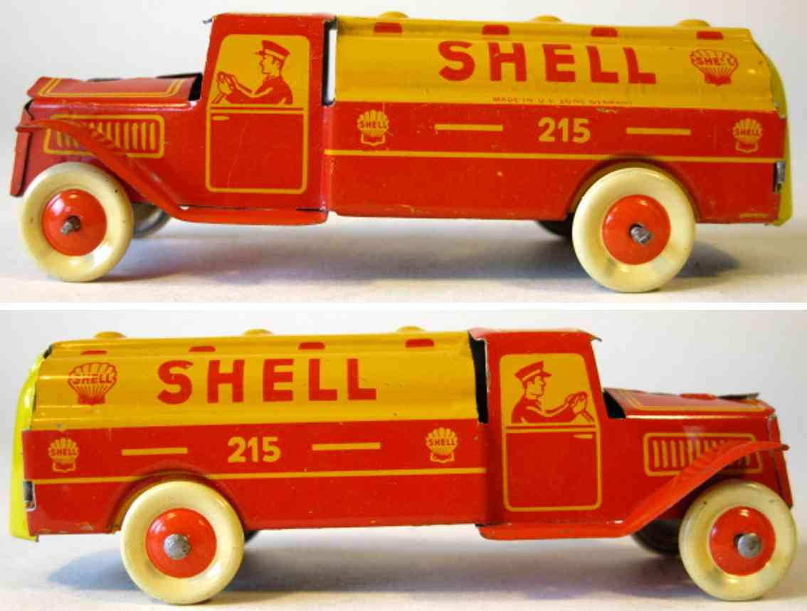 fischer georg 215 penny toy shell tanklastwagen