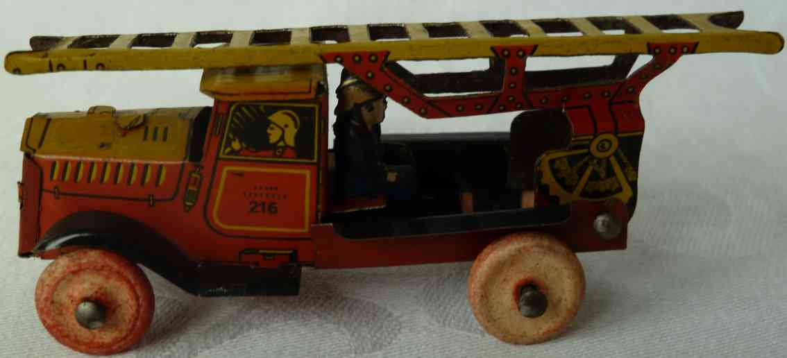 Fischer G. 216 Penny Toy Feuerwehrleiterwagen