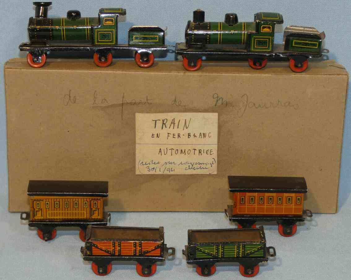 fischer georg john hess 291/2 tin penny toy locomotive 291 2 cars