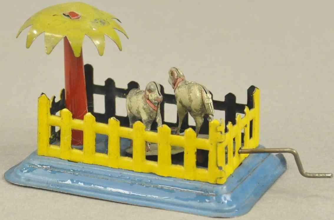 fischer georg 244 penny toy zwei schafe im stall palme