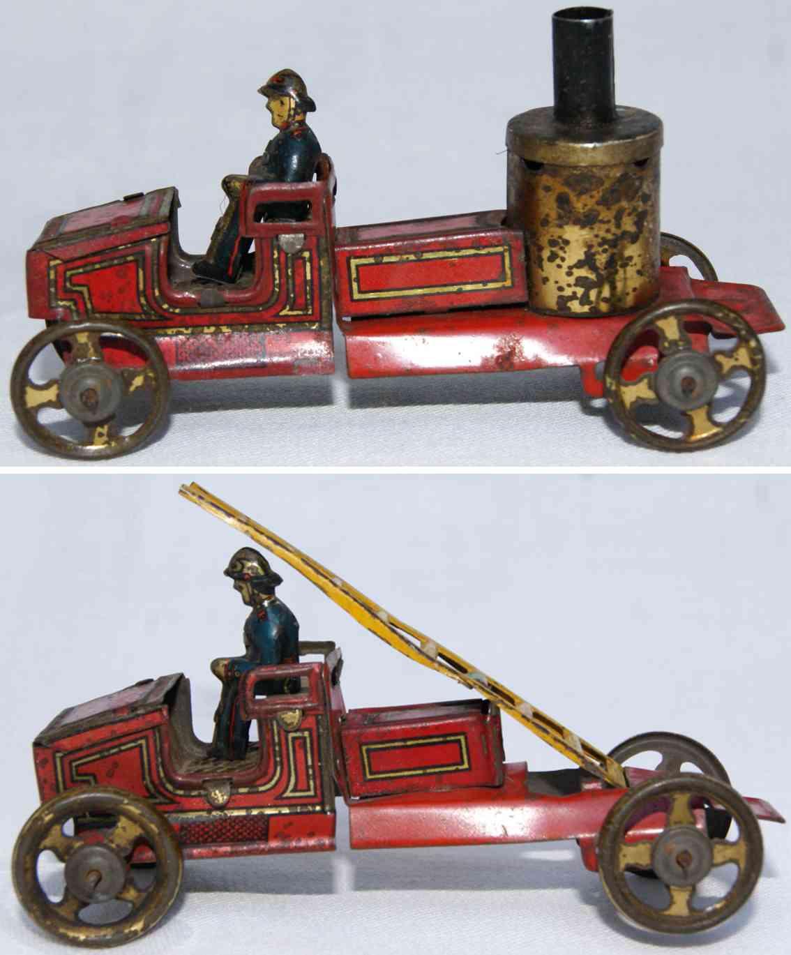 fischer georg  penny toy leiterwagen kesselwagen
