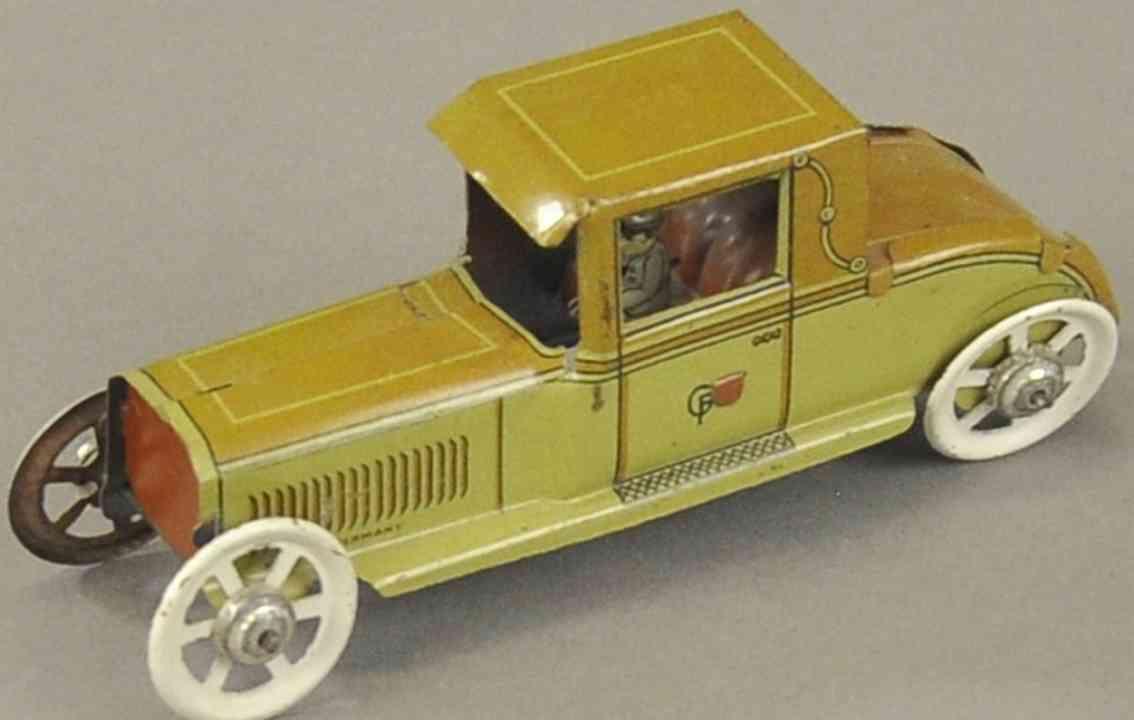 fischer georg 321 penny toy auto  fahrer braun