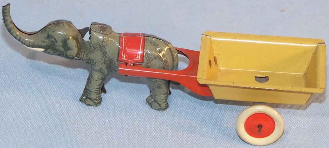 Fischer Georg Penny Toy Elephant with car