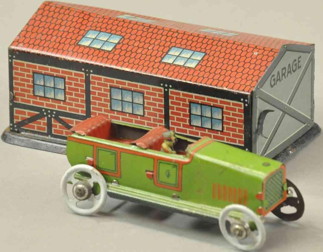 fischer georg penny toy garage auto tourenwagen gruen
