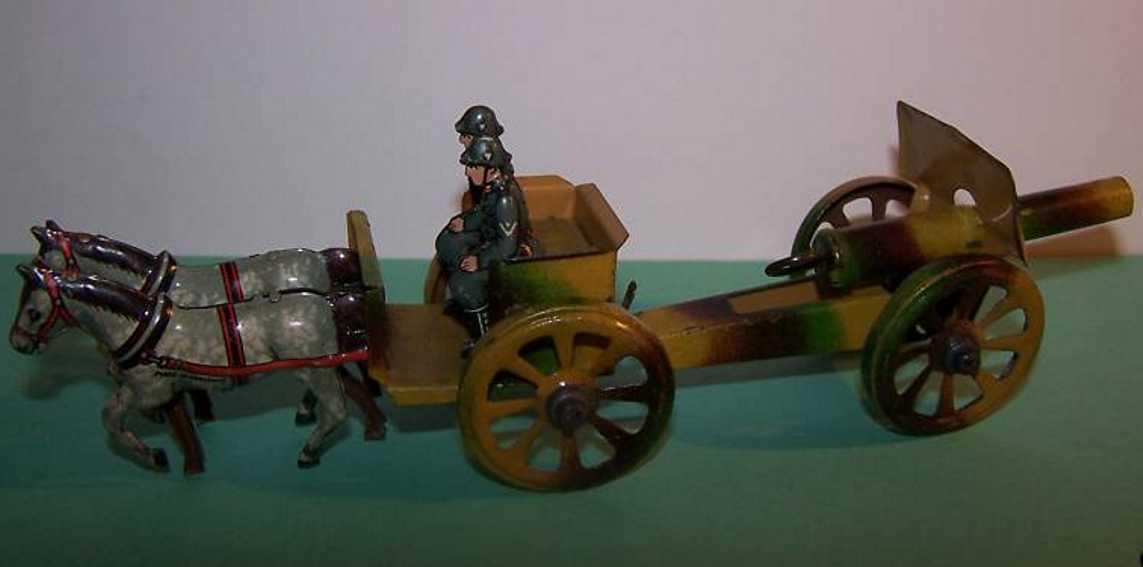 Fischer Georg Penny Toy Gespann mit Kanone