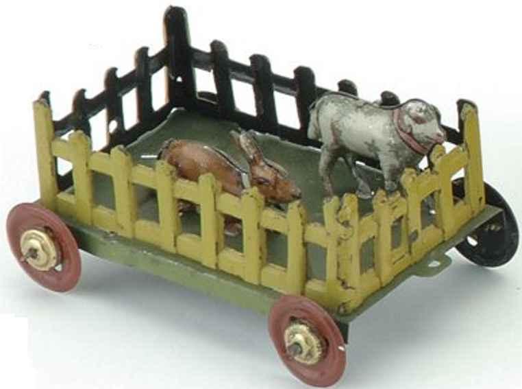 Fischer Georg Penny Toy Hase mit Schaf im Gatter auf Plattform