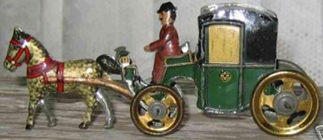 Fischer Georg Penny Toy Kutsche mit Pferd und Kutscher