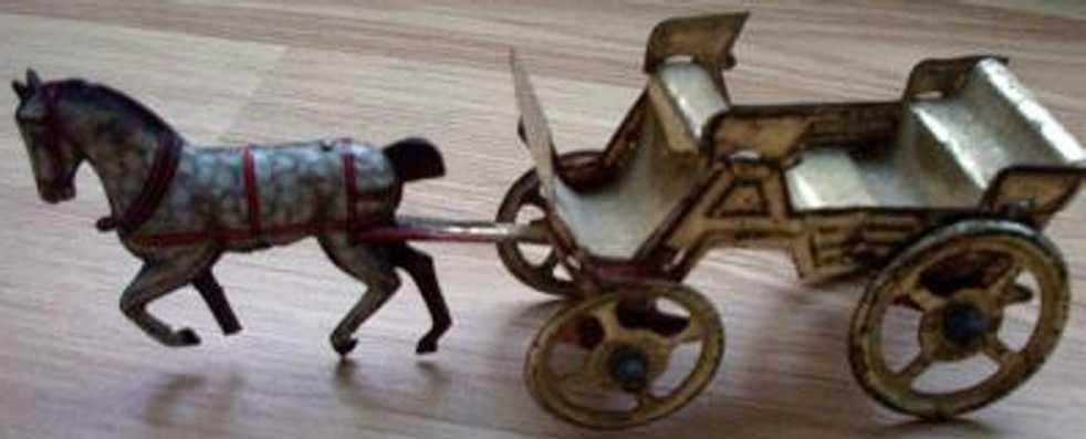 fischer georg penny toy kutsche mit pferd,