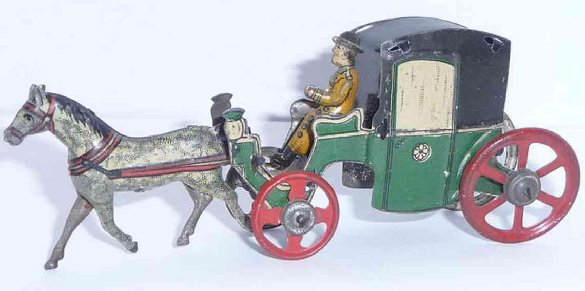 fischer georg penny toy kutsche mit pferd und fahrer