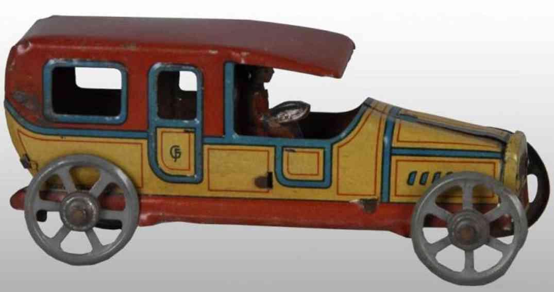 fischer feorg penny toy limousine mit uniformiertem Fhahrer