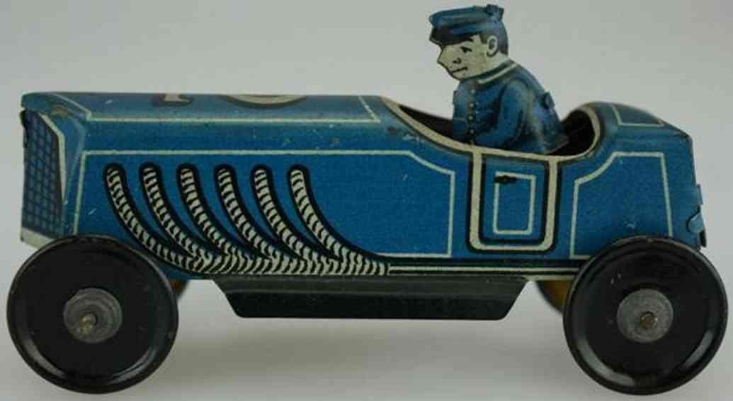 georg fischer penny toy rennwagen fahrer blau