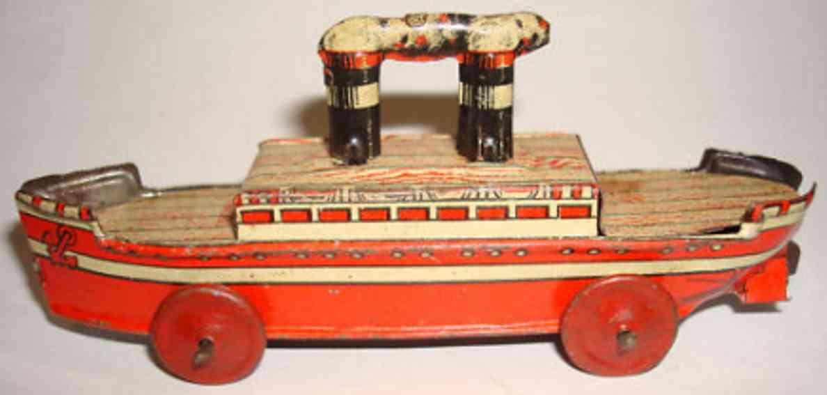 fischer georg penny toy schiff auf raedern