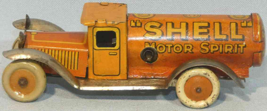 fischer georg penny toy shell tankwagen mit uhrwerk rot