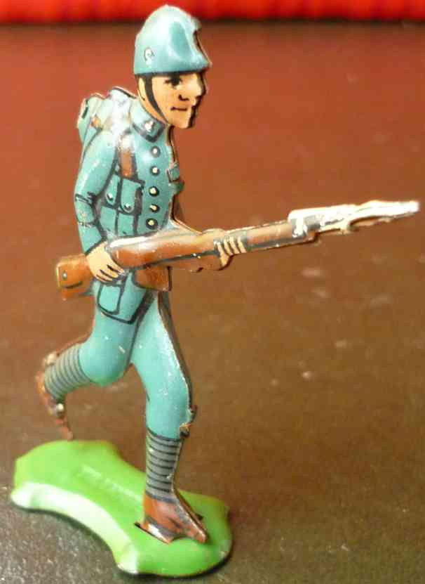 fischer georg penny toy soldat uniform plattform gewehr helm