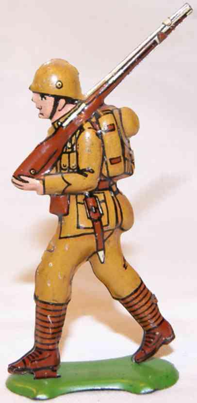 fischer georg penny toy soldat khakifarbenn wuestenunifom