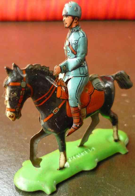 fischer georg penny toy soldat pferd plattform