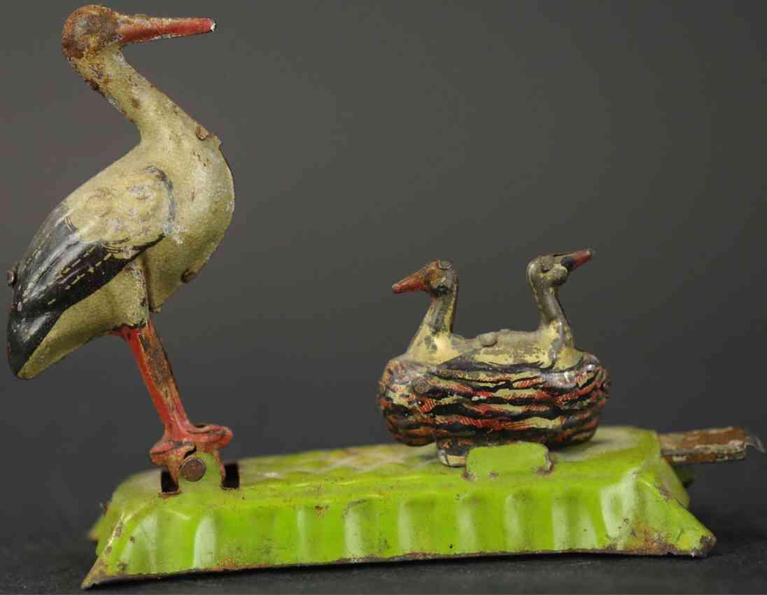 fischer georg penny toy storch mit nest und zwei kleinen stoerchen