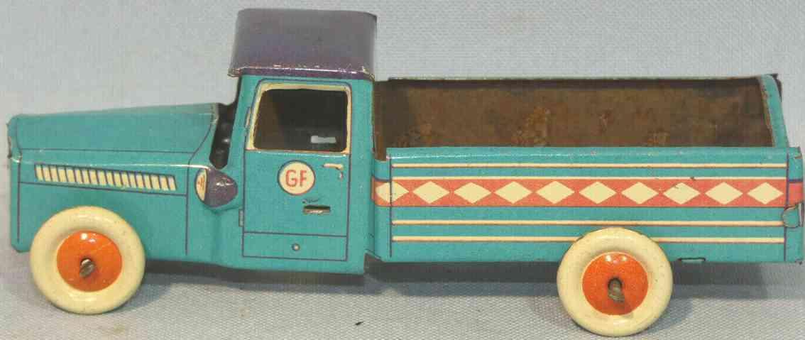 fischer georg penny toy lastwagen hellblau